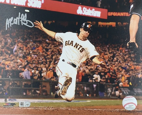 Photo of Matt Duffy Autographed 8x10 (Sliding)