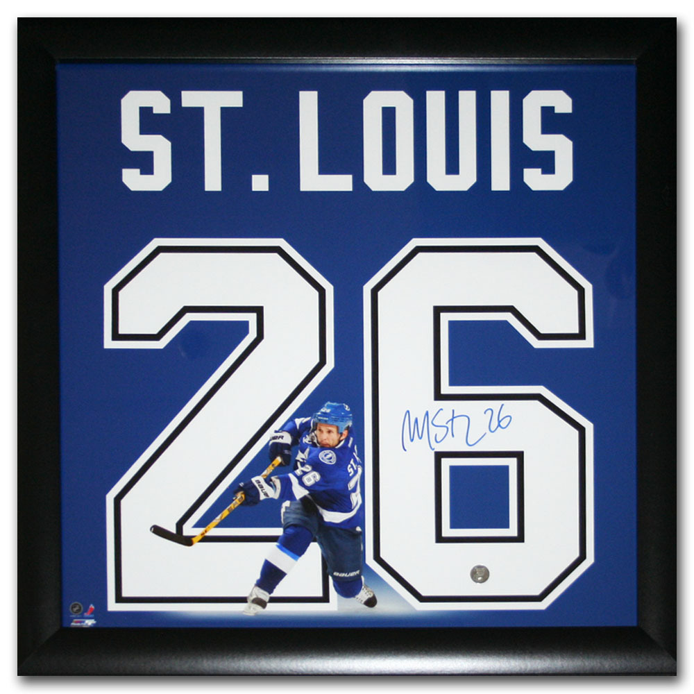 Martin St. Louis Autographed Tampa Bay Lightning 20X20 Uniframe Display