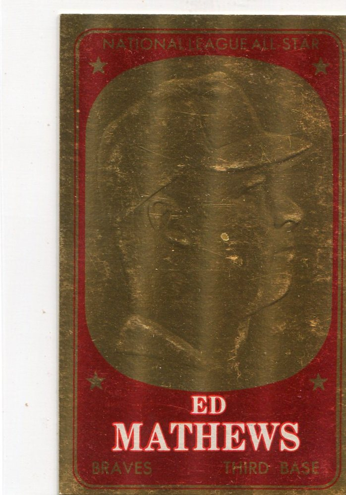 1965 Topps Embossed #26 Eddie Mathews