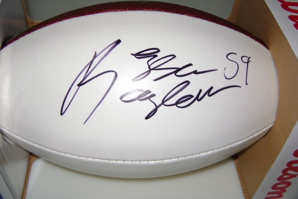 BILLS - REGGIE RAGLAND SIGNED PANEL BALL