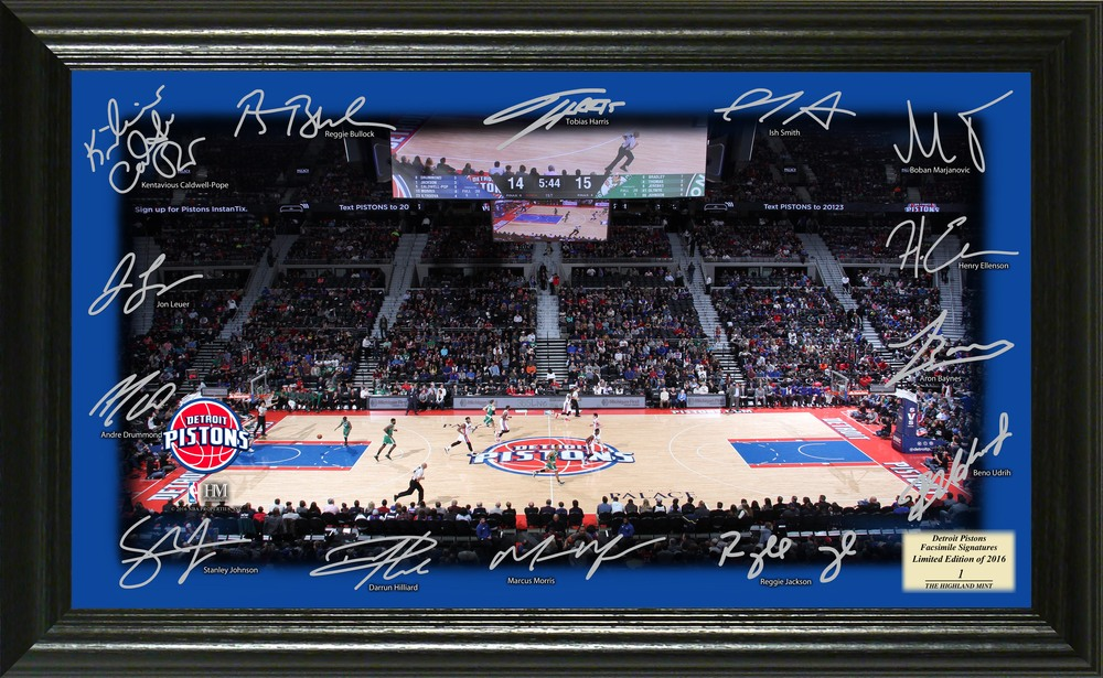 Serial #1! Detroit Pistons Signature Court