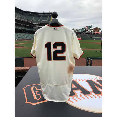 Photo of San Francisco Giants - Home Opening Day Jersey - Game Used - Joe Panik #12