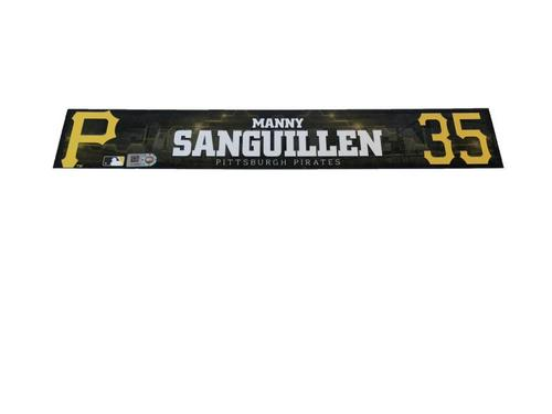 Photo of Manny Sanguillen Game-Used Spring Training Locker Name Plate