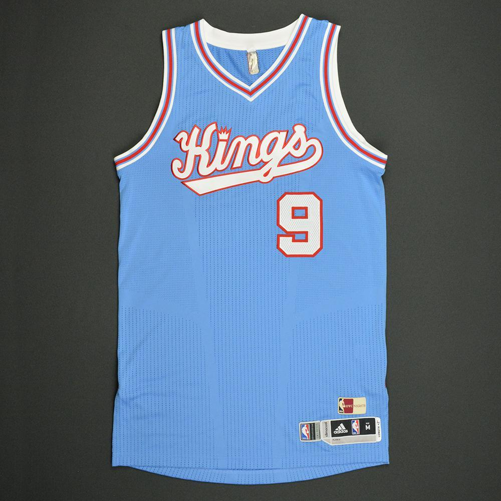 Langston Galloway - Sacramento Kings - Game-Worn Blue '1985-86 Road Hardwood Classics' Jersey - Dressed, Did Not Play - 2016-17 Season