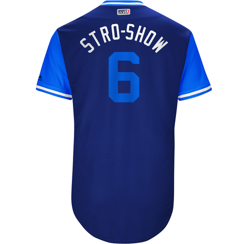 "Photo of Marcus ""Stro-Show"" Stroman Toronto Blue Jays Game-Used Players Weekend Jersey"