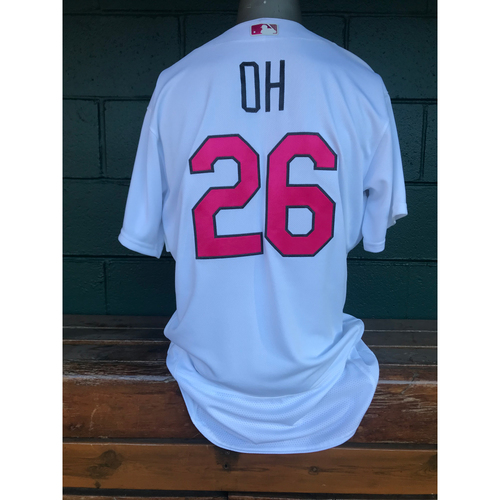 Photo of Cardinals Authentics: Seung-hwan Oh Game Worn Home White Mother's Day Jersey