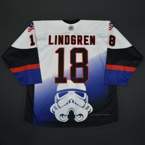 Ryan Lindgren - 2016 U.S. National Under-18 Development Team - Star Wars Night Game-Worn Jersey w/C