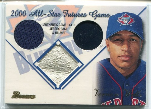 Photo of 2001 Bowman Multiple Game Relics #MGRVW Vernon Wells A