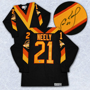 Cam Neely Vancouver Canucks Autographed Rookie Retro CCM Hockey Jersey