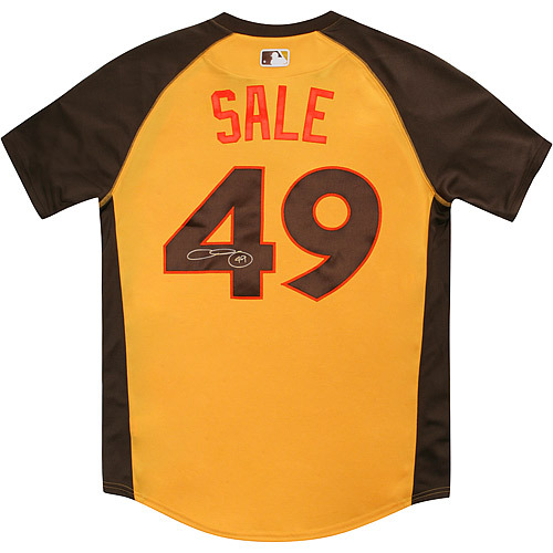 Photo of Chris Sale 2016 Major League Baseball Workout Day/Home Run Derby Autographed Jersey