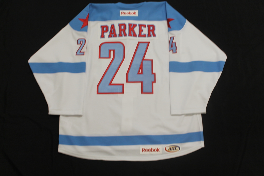 Jonathan Parker Game Issued Rochester Americans Men's Health Night Jersey