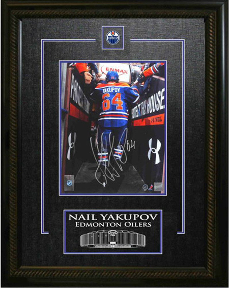 Yakupov Signed 8x10 Etched Mat Edmonton Oilers Tunnel