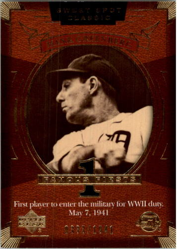 Photo of 2004 Sweet Spot Classic #109 Hank Greenberg FF/1941