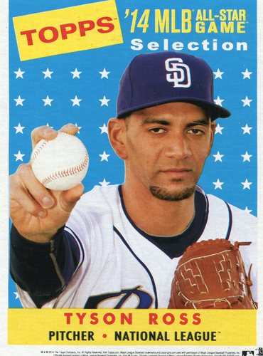 Photo of 2014 Topps 5x7 All-Star Selection Tyson Ross -- Part of exclusive Minneapolis FanFest set