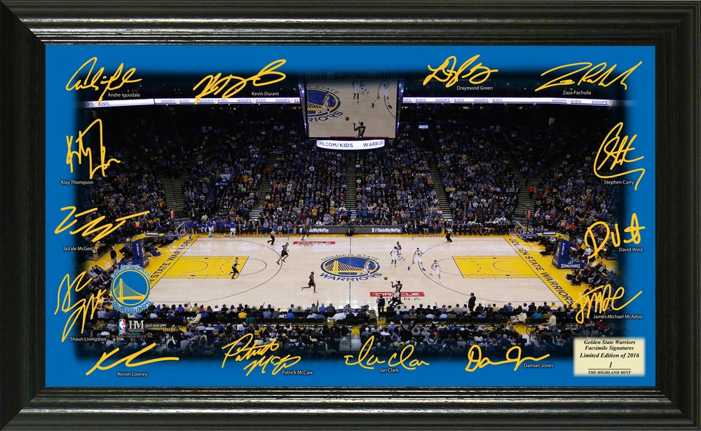 Serial #1! Golden State Warriors Signature Court