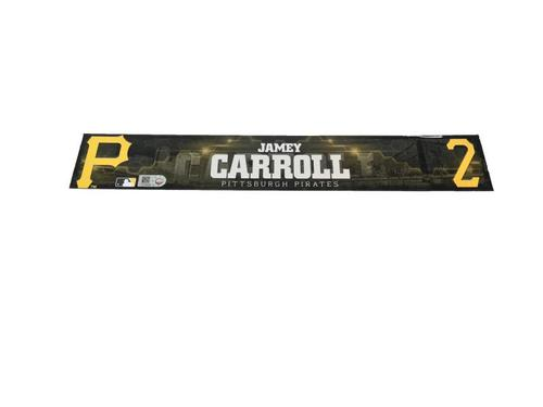 Photo of Jamey Carroll Game-Used Spring Training Locker Name Plate