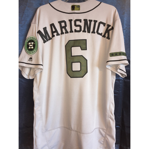 Photo of Jake Marisnick Game-Used Memorial Day Camo Jersey
