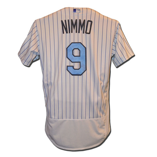 Photo of Brandon Nimmo #9 - Game Used Father's Day Jersey - Mets vs. Nationals - 6/18/17