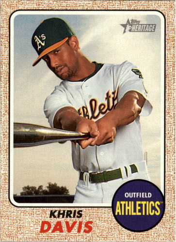 Photo of 2017 Topps Heritage #302 Khris Davis