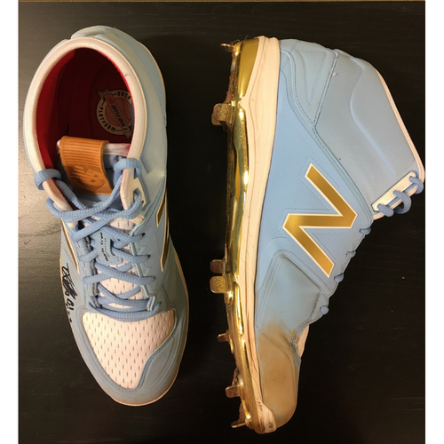 Photo of Game-Used Danny Duffy Cleats from 8/6/17 Start