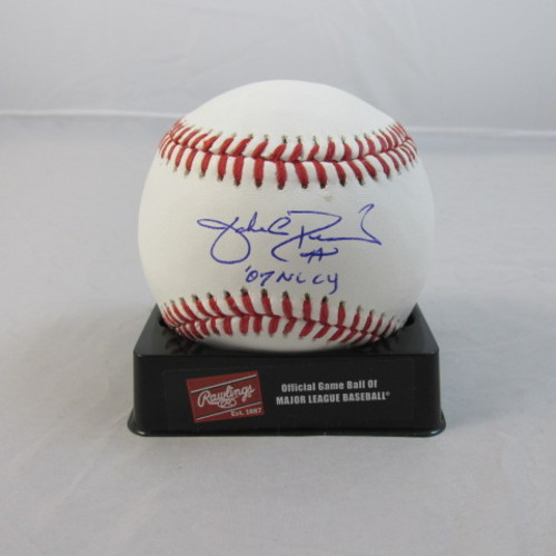 "Photo of Jake Peavy Autographed ""2007 NL Cy"" Baseball"