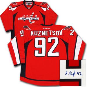 Evgeny Kuznetsov Autographed Washington Capitals Jersey