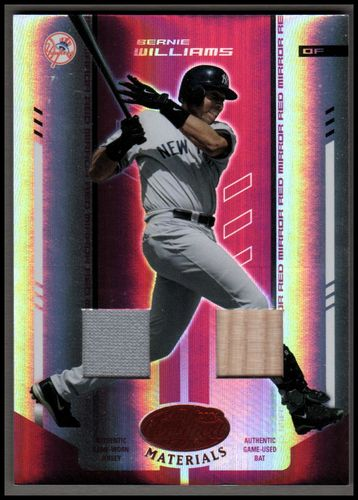 Photo of 2004 Leaf Certified Materials Mirror Combo Red #20 Bernie Williams Bat-Jsy