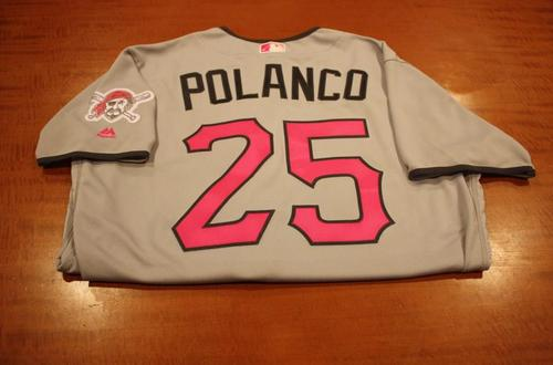 Photo of Gregory Polanco Game Used Mother's Day Jersey
