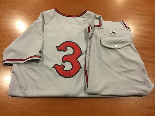 Photo of Ivan De Jesus Jr. Game-Used Cincinnati Tigers Uniform