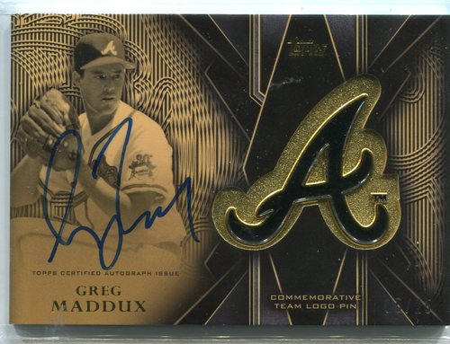 Photo of 2016 Topps Team Logo Pins Autographs #TLPAGM Greg Maddux