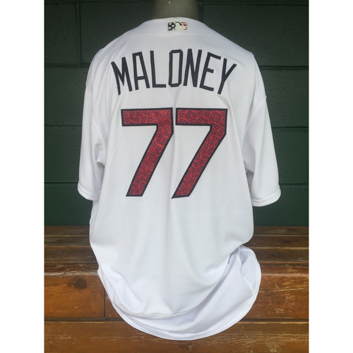 Photo of Cardinals Authentics: Chris Maloney 4th of July Star and Stripes Jersey