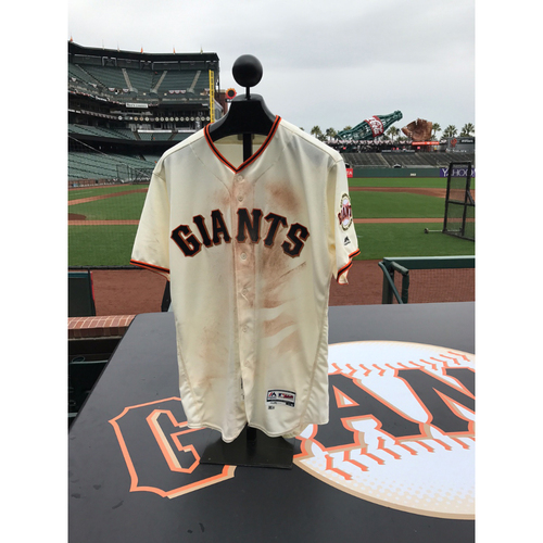 Photo of San Francisco Giants - Home Opening Day Jersey - Game Used - Jarrett Parker #6