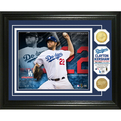 Serial #1! Clayton Kershaw Bronze Coin Photo Mint