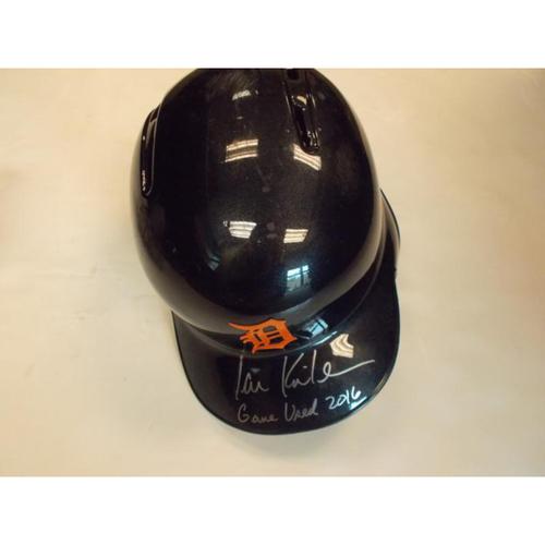 Photo of Autographed Ian Kinsler 2016  Road Helmet