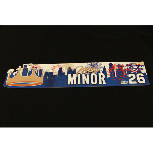 Photo of Mike Minor Game-Used Opening Day Locker Name Plate