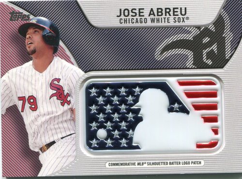 Photo of 2017 Topps Independence Day MLB Logo Patch #IDMLJAB Jose Abreu