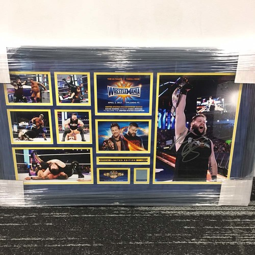 Photo of Kevin Owens WrestleMania 33 Signed Commemorative Plaque  (#1 of 500)