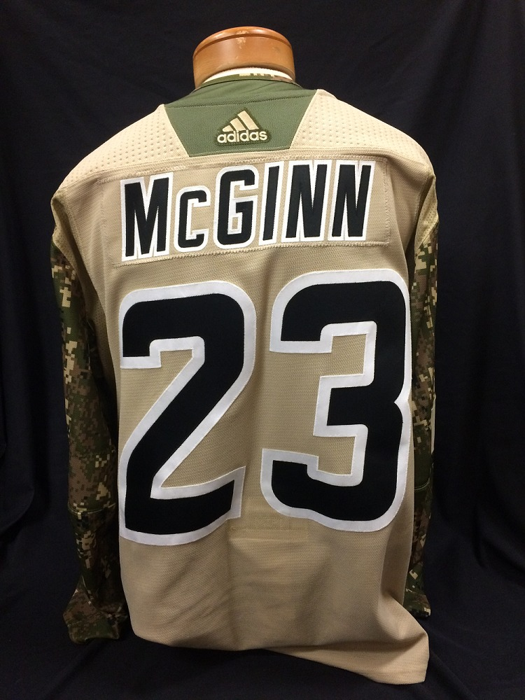 Brock McGinn #23 Autographed Military Appreciation Jersey