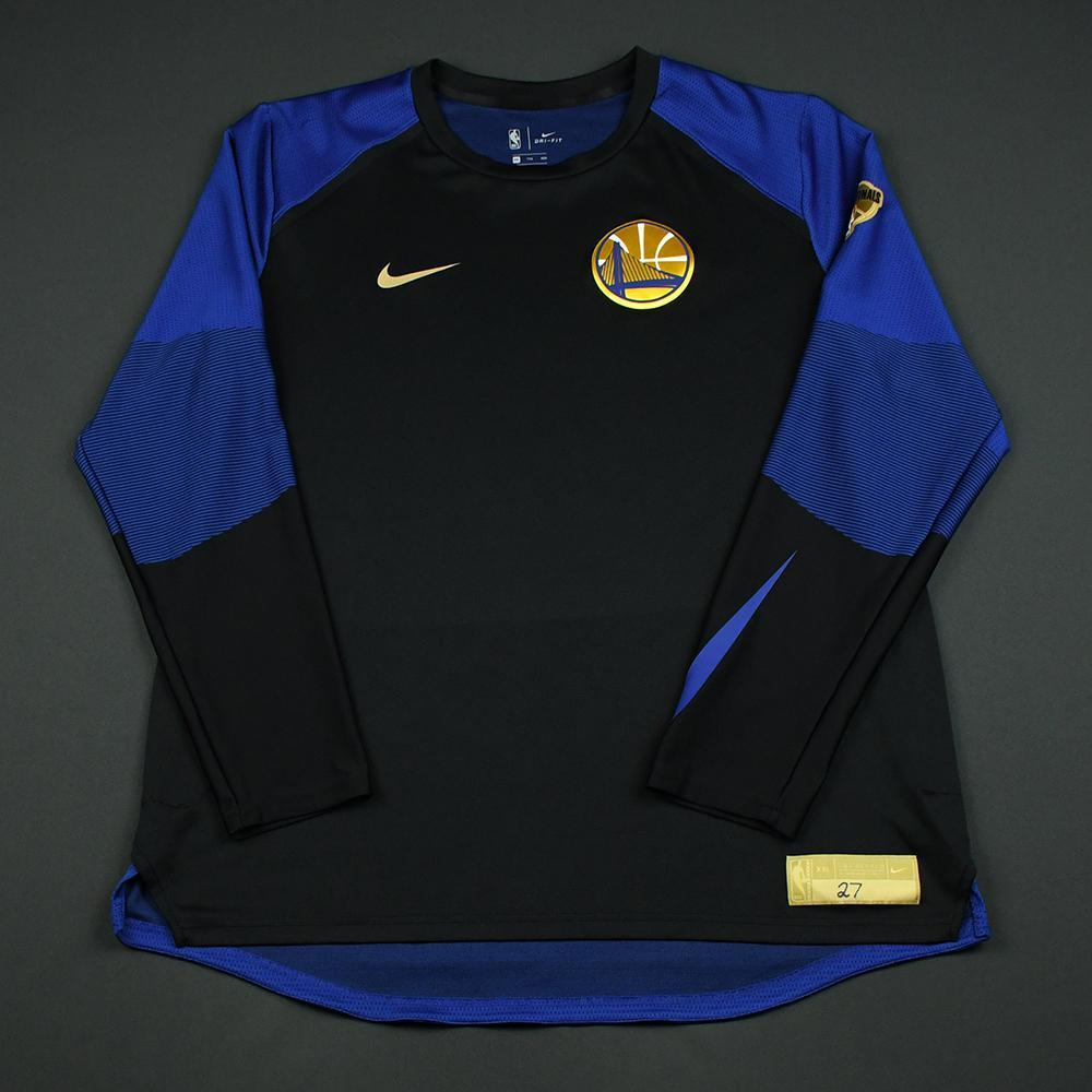 Zaza Pachulia - Golden State Warriors - 2018 NBA Finals - Game-Issued Shooting Shirt