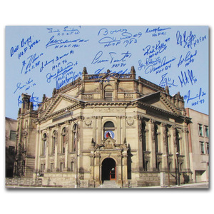 Hockey Hall of Fame 16X20 Photo Autographed by 21 Members - Howe, Hull, Lafleur & More