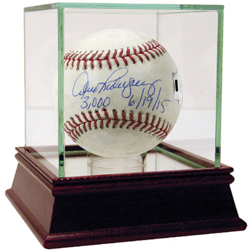 """Photo of Alex Rodriguez Signed Tigers at Yankees 6-19-2015 Game-Used Baseball w/ """"3,000th Hit 6/19/15"""" Insc. (MLB Auth) - Case Not Included"""