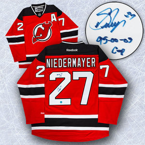 Scott Niedermayer New Jersey Devils Autographed Reebok Premier Hockey Jersey