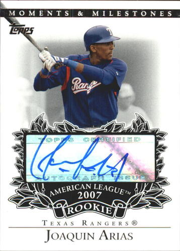 Photo of 2007 Topps Moments and Milestones Rookie Autographs #JA Joaquin Arias