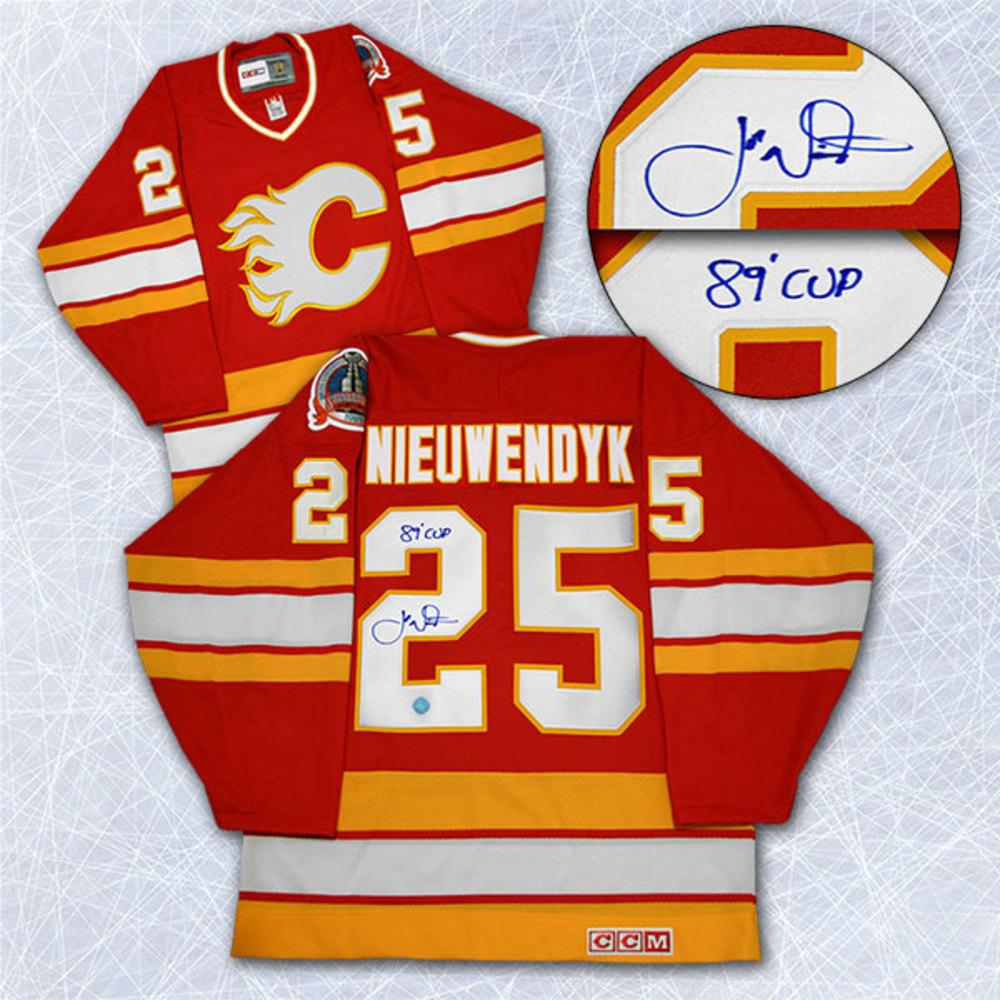 Joe Nieuwendyk Calgary Flames Autographed Stanley Cup Retro CCM Hockey Jersey