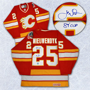 Joe Nieuwendyk Calgary Flames Autographed Stanley Cup Jersey