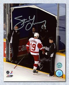 Steve Yzerman Detroit Red Wings Autographed Last Step 8x10 Photo