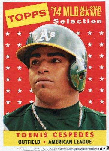 Photo of 2014 Topps 5x7 All-Star Selection Yoenis Cespedes -- Part of exclusive Minneapolis FanFest set