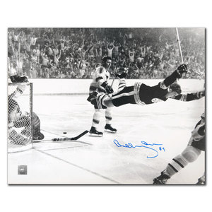 Bobby Orr Boston Bruins The Goal Autographed 16x20