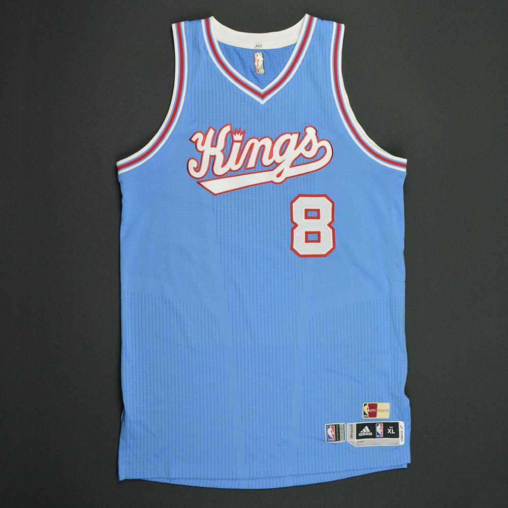 Rudy Gay - Sacramento Kings - Game-Worn Blue '1985-86 Road Hardwood Classics' Jersey - 2016-17 Season