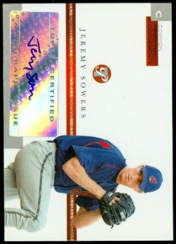 Photo of 2005 Topps Pristine Personal Endorsements Common #JS Jeremy Sowers